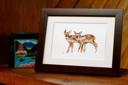 Saturday: Deer Painting in Situ