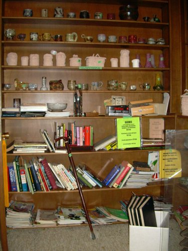 Books and knicknacks