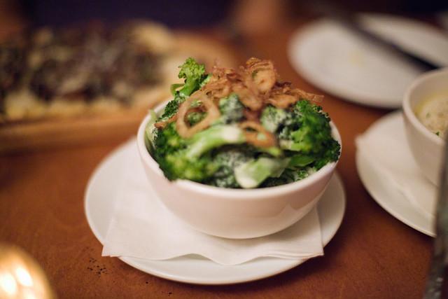 Broccoli, Cheddar & Crispy Shallots