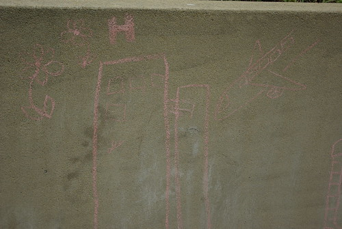 Twin Towers in chalk
