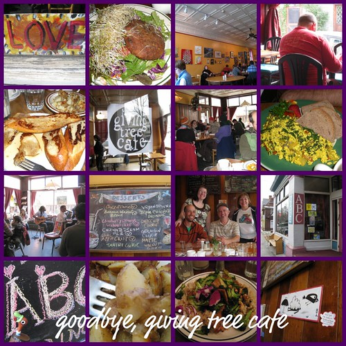 goodbye, giving tree cafe