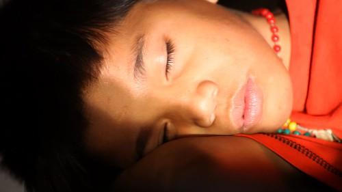 marlon sleeping