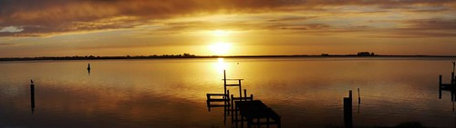 Sunrise Over the Mundoo Channel from Hindmarsh Island