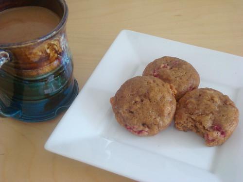 Raspbanana Muffins