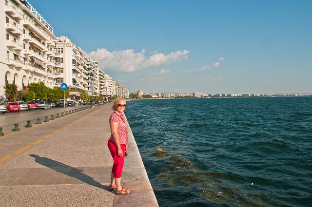 Chris on the sea front, Thessaloniki