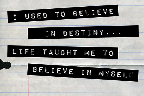 I used to believe...