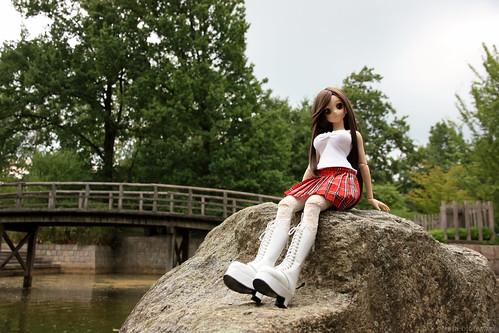 Yoko in the Japanese garden