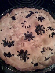 First blueberry pie of the season!