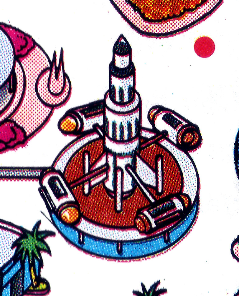 Disneyland Rockets - 1988 Disneyland Map