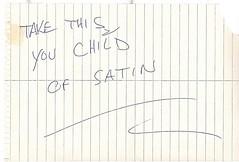Threat to Bug Girl, Child of Satin
