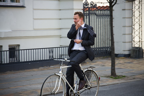 enternado en bici