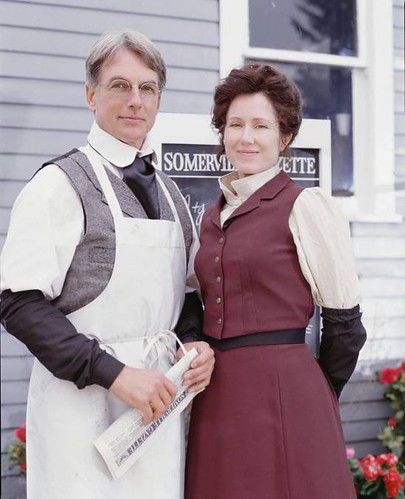 Mark Harmon and Mary McDonnell in For all Time