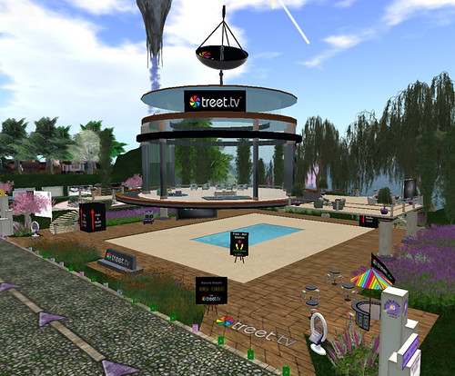 Treet studio at Relay for Life in Second Life