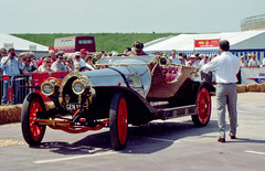 Chitty Chitty Bang Bang vintage vehicle at Lle...