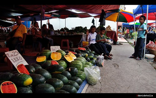 watermelons at tamu putatan.