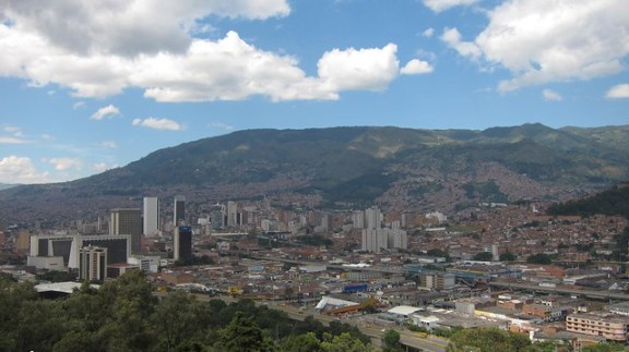 View of downtown Medellin