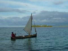 Kuna Mann hat das Segel fest im Griff