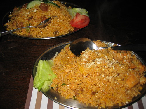 chicken and lamb biryani
