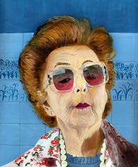 hippie sister of Margaret Thatcher
