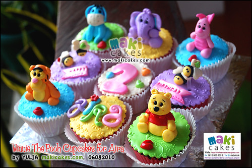Winnie The Pooh Cupcakes for Aira - Maki Cakes