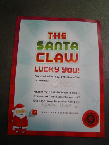 Santa Claw Prize Certificate