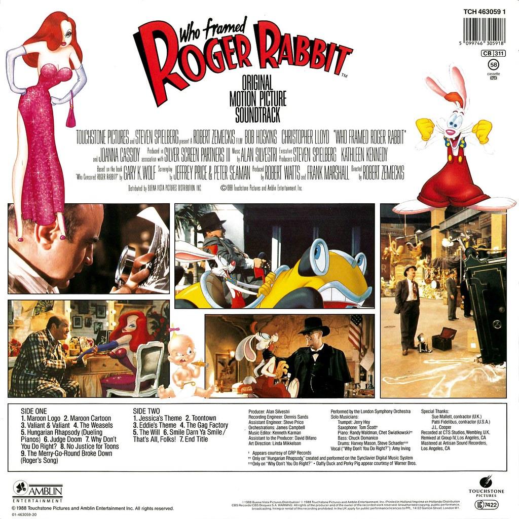 Who Framed Roger Rabbit | LP Cover Art