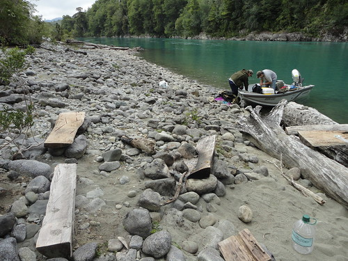 Camping On The Rio Puelo, Chile