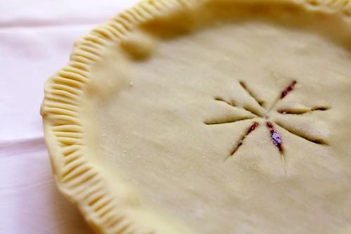 pre-cooked blackberry pie