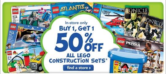 TRU LEGO BOGO 50%