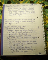 Pg. 1 of Notes from Katherine Bomer's Keynote - 070110