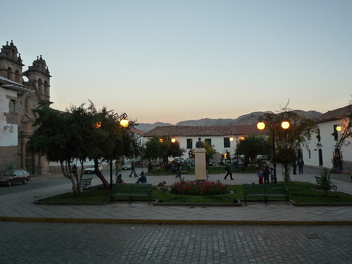 Una bella plaza en Cusco