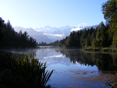 Picture from Lake Matheson, New Zealand