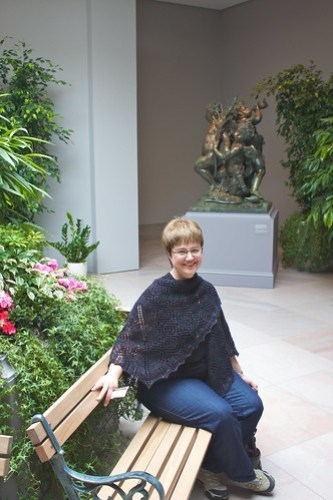 Corvid Diamond Shawl: seated