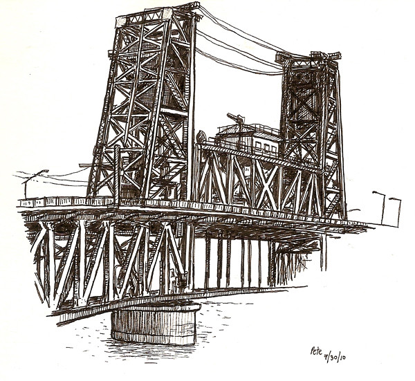 steel bridge, portland
