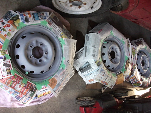 Wheels primed