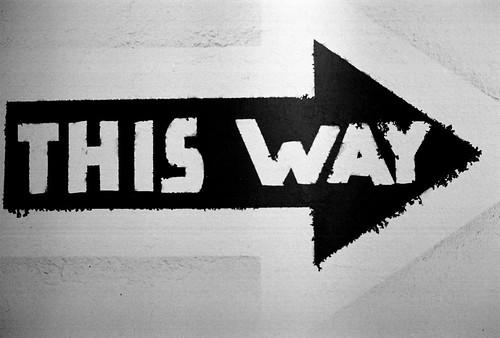 This way - image Steve Snodgrass on Flick'r