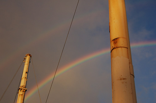 FOC masts and rainbow