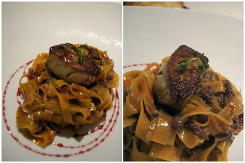 Pasta with foie gras