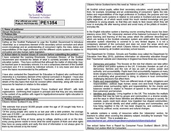 Petition PE 1354 introducing Justice Legal & Consumer Rights Education into Scottish secondary school curriculum
