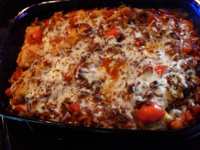 Vegetarian Bubble Up Pizza Casserole   Saucy & Bossy
