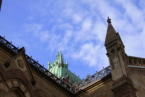 Old South Church Boston sky