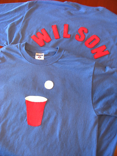 Team Wilson Beer Pong Shirts