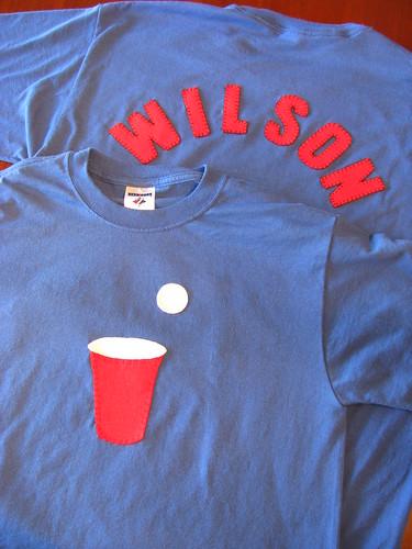 Team Wilson Beer Pong Shirts