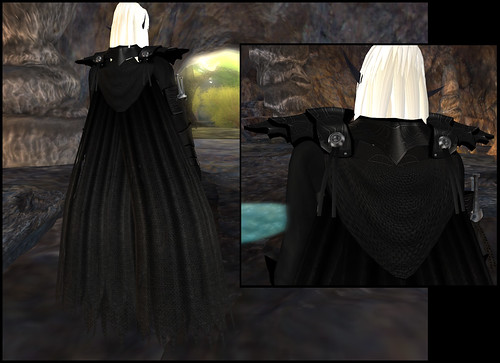male dark elf - cape detail