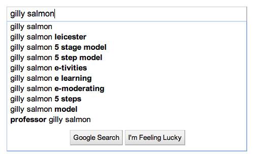 google impact - gilly salmon
