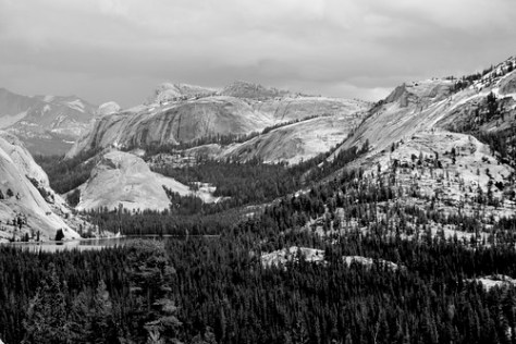 Yosemite from Olmsted Point (B&W)