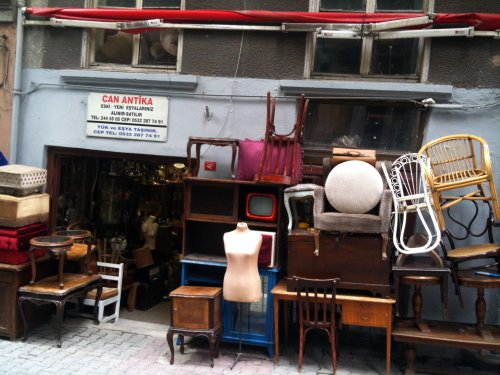 Vintage furniture shop in Istanbul