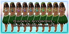 * Charmed * Hula Plumeria Accessories & Ti-Leaf Skirt Set 02