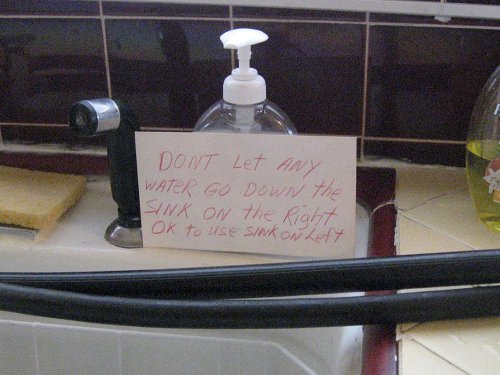 Sink instructions