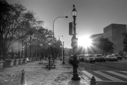 Sunrise on Pennsylvania Avenue